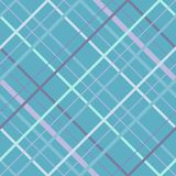 Linee trasversali senza cuciture modello di Madras Struttura senza cuciture diagonale come plaid di tartan in vari colori blu bei illustrazione di stock