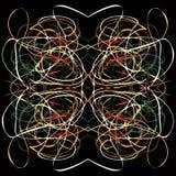 Linee variopinte commoventi di fondo astratto illustrazione vettoriale