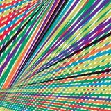 Linee variopinte modello di caos della banda di spettro dell'estratto del modello del fondo illustrazione di stock