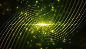 Linee verdi turbinio della particella