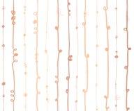 Linee verticali astratte metalliche modello senza cuciture della stagnola di Rose Gold di vettore Bande verticali ondulate di ram royalty illustrazione gratis