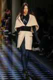 Lineisy Montero walks the runway during the Balmain show Royalty Free Stock Photo