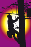 Lineman on work vector illustration