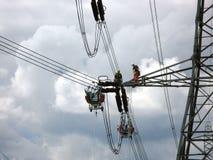 Linemen δύναμης Στοκ Φωτογραφίες