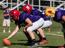 The Linemen. Football action at the Lion's All Star game in Redding, California Royalty Free Stock Photos
