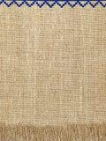 Linen естественная картина текстуры с краем Справочная информация Стоковые Изображения RF