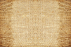 Linen картина текстуры с краем абстрактная предпосылка Стоковое Изображение RF