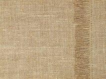 Linen картина текстуры с краем как предпосылка стоковое фото rf