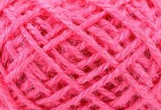 Linen текстура веревочки поток в конце клубока вверх Стоковые Изображения RF