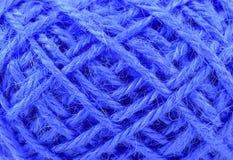 Linen текстура веревочки поток в конце клубока вверх Стоковая Фотография RF