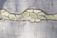 Linen ткань с вышивкой Стоковые Фото