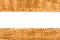 Граничьте текстуру ткани сорванной linen ткани увольнения, сорванного края o Стоковая Фотография