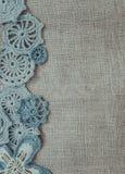 Linen и винтажный шнурок Стоковые Фото