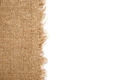 Linen ткань на белой предпосылке Стоковые Изображения
