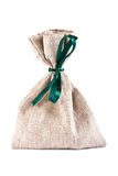 The linen bag fastened green flight Royalty Free Stock Images
