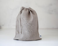 Linen bag isolated. Stock Photography