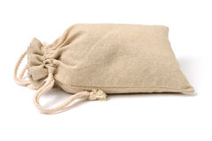 Linen bag Stock Photo