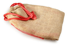 Linen bag on a white background Stock Photography