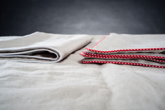 Linen bedding Royalty Free Stock Images