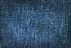 Linen blue texture for the background Royalty Free Stock Photos