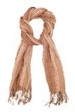 Linen brown scarf Royalty Free Stock Photo