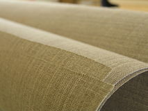 Linen canvas. In roll, pure material Royalty Free Stock Images