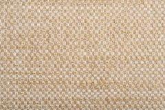 Linen canvas with golden thread Stock Photos