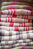 Linen chair pillows pile Stock Image