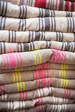 Linen chair pillows pile Royalty Free Stock Images