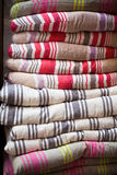 Linen chair pillows pile Royalty Free Stock Photo