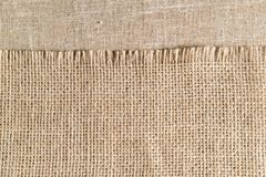 Linen cloth, napkin with the big texture stock photography