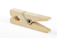 Linen Clothes-peg Stock Images
