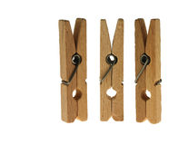 Linen clothespins Royalty Free Stock Image