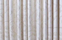 A linen curtain. As backgrounds Royalty Free Stock Images