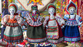 Linen doll in Russian national dress Stock Photo