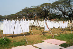 Linen drying at a Laundry of Fort Cochin Stock Photos