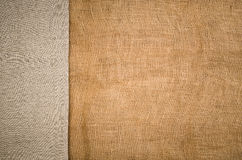 Linen fabric background. Visible texture Royalty Free Stock Image