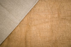 Linen fabric background. Visible texture Stock Images