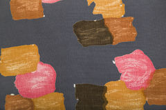 Linen fabric with colorful abstract pattern Stock Photos