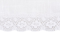 Linen fabric with lace Stock Photography