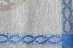 Linen fabric with ornament Stock Photo