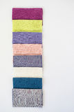 Linen fabric pattern in different colors Stock Photo