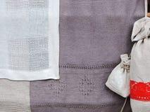 Linen fabric texture Stock Photography