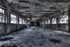 Linen Factory. Urban exploration of an abandoned linen factory, Lombardy, Italy Stock Photo