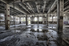 Linen Factory. Urban exploration of an abandoned linen factory, Lombardy, Italy Stock Photos