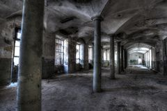 Linen Factory. Urban exploration of an abandoned linen factory, Lombardy, Italy Royalty Free Stock Photos