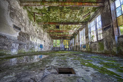 Linen Factory. Urban exploration of an abandoned linen factory, Lombardy, Italy Stock Image