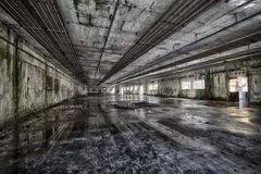 Linen Factory. Urban exploration of an abandoned linen factory, Lombardy, Italy Royalty Free Stock Images