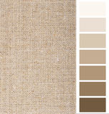 Linen hessian fabric color chart Stock Photography