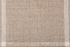Linen hessian fabric texture Stock Photos
